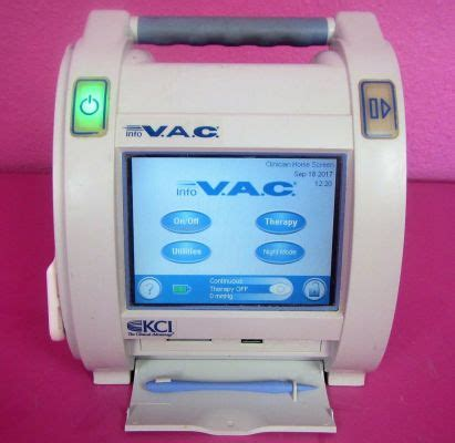 Used KCI Info VAC Wound Therapy Management Unit Pump