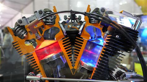 Working Model of a Harley V-Twin Air Cooled Motorcycle
