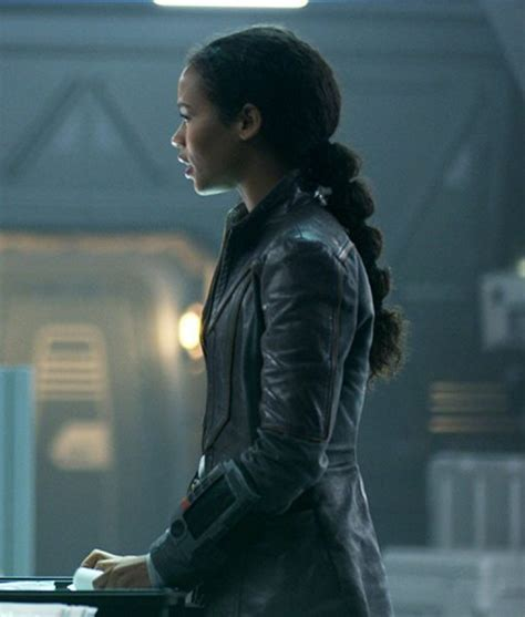 Taylor Russell ( Judy Robinson ) SlimFit Leather Jacket On