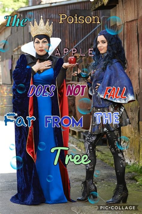 Evie and Evil Queen quote collage (With images)   Disney