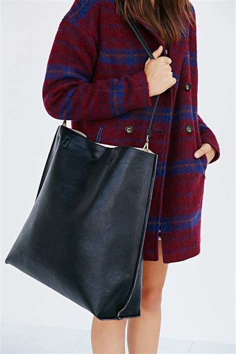 Lyst - Urban Outfitters Oversized Reversible Vegan Leather