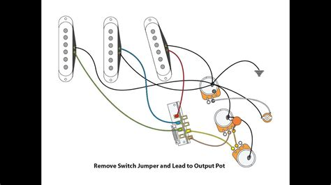 50's or Vintage Style wiring for a Stratocaster - YouTube