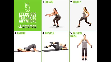 The Herbalife 5 minute anywhere-workout - YouTube