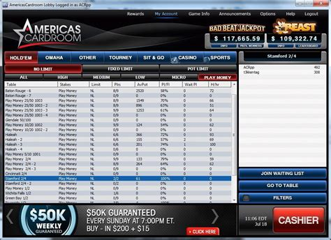 Americas Cardroom registration (how to sign up for