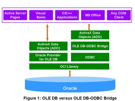 Oracle10g OLE DB Provider Feature Overview