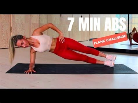 7 MINUTE AB WORKOUT | PLANK CHALLENGE | No Equipment - YouTube