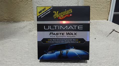 Meguiars Ultimate Paste Wax test review before and after
