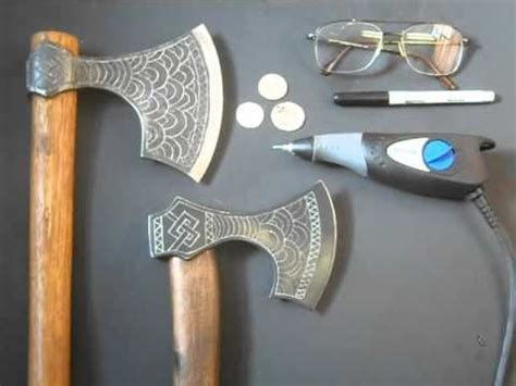 How to engrave a Viking Axe