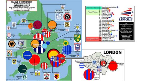 The League Championship Standings Map, 3rd week of January
