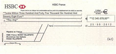 Cheque Writing/ Printing Software for France Banks
