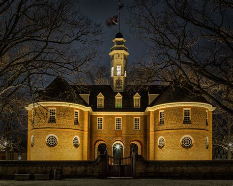 Colonial Williamsburg at Night | From Wikipedia - The