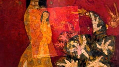 Lacquer by South East Asia artist of Vietnam painting art