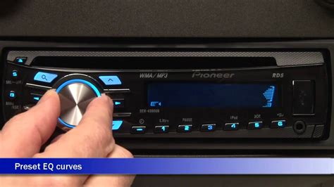 Pioneer DEH-4300UB CD Car Receiver Display and Controls