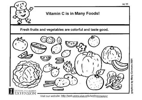 Coloring page Vitamin C in food - img 5933