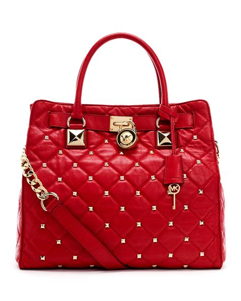 Lyst - Michael michael kors Large Hamilton Studded Quilted