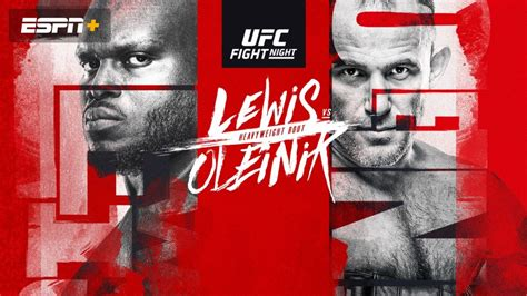 How to Watch UFC Fight Night: Lewis vs
