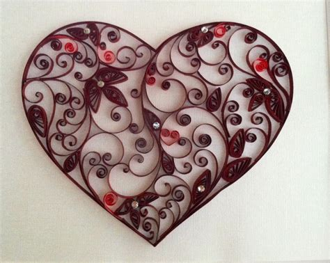 Gorgeous Quilled heart by Karen Cain Designs, visit me on