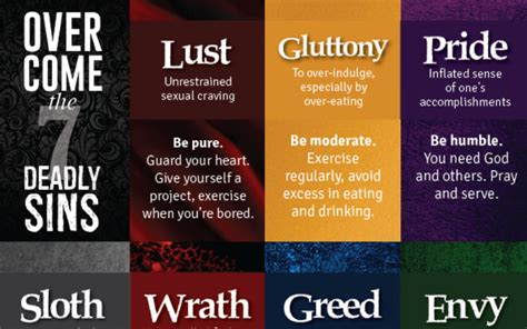 How to Overcome the 7 Deadly Sins, in One Infographic