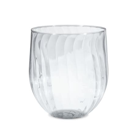 Disposable Plastic Stemless Wine Glass   Chinet®