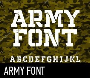 Army style font free download   Typeface - allbestfonts